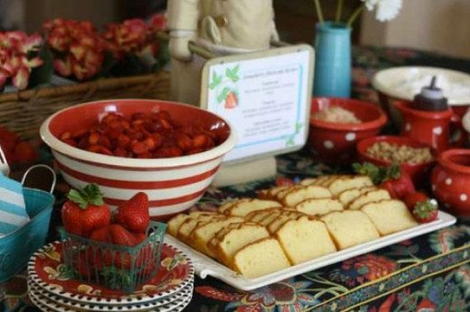 If you love strawberry shortcake so much, why not have a strawberry shortcake station where guests can assemble their strawberry shortcake - the way they like it.