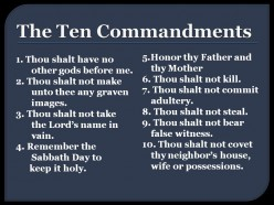 Did Christ Abolish the Ten Commandments?