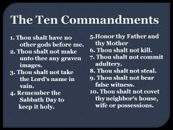 "Did Jesus Christ Abolish the ""Ten Commandments?"""
