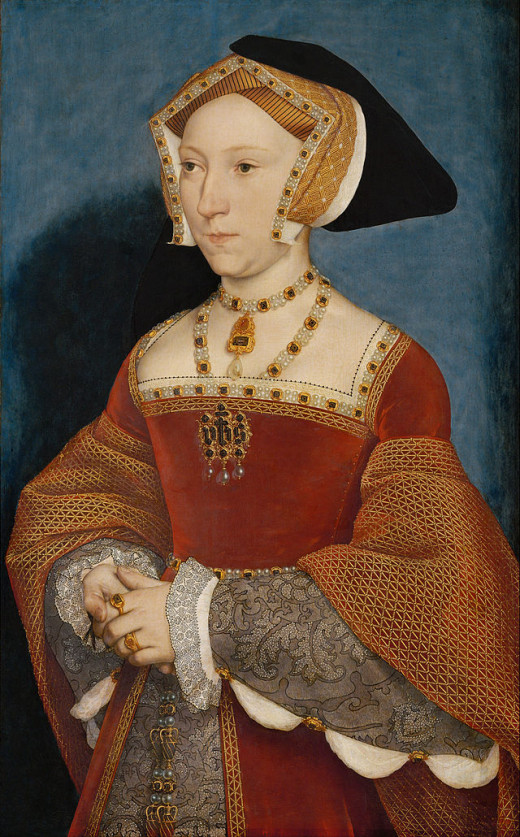 Portrait of Jane Seymour by Hans Holbein.