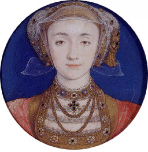 Portrait of Anne of Cleves by Hans Holbein the Younger.