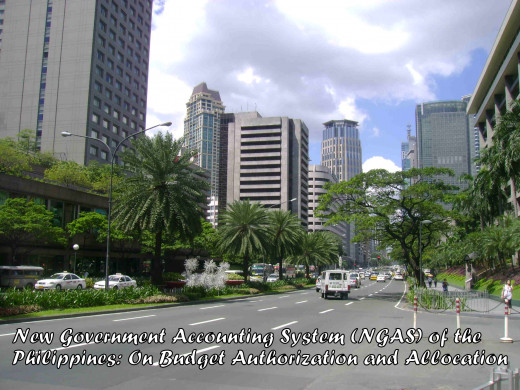The country's premiere financial district in Makati in Ayala was among the core recipients of NGAS and Budget Allotments .