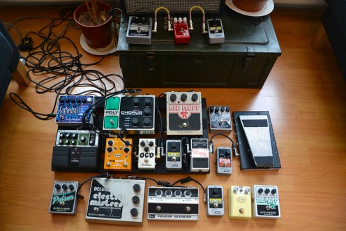 Wow, this is a lot of pedals. But he made time to include the Holy Grail.