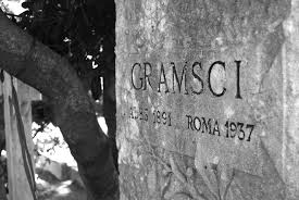The grave of Italian Marxist writer Antonio Gramsci who died in prison after opposing Mussolini.
