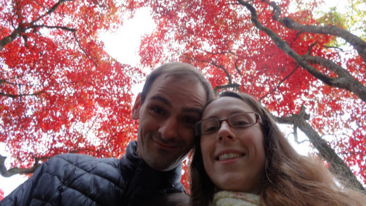 Nikkō, Japan - November 11, 2012. Kyde and Eric