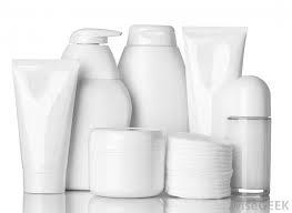 Generic skincare bottles