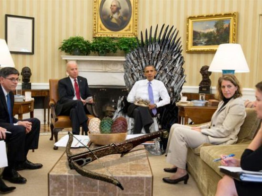 Looks like even the President of the United States can't hide his passion for the Game of Thrones. He even had his own Iron Throne!
