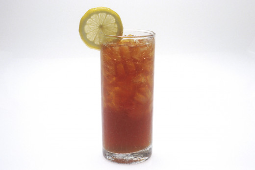 A refreshing glass of iced tea
