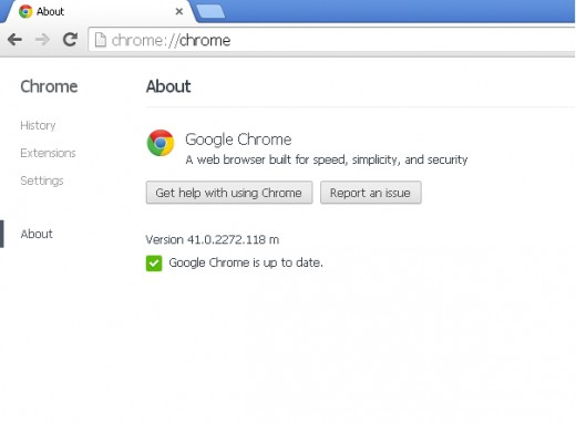 Google Chrome updated successfully !