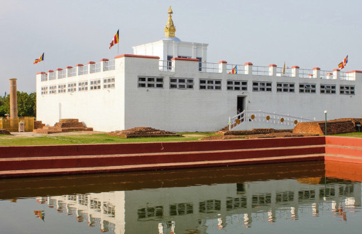 The Buddha was born inside the Mayadevi Temple in Lumbini