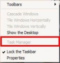 Task manager disabled when you right click on taskbar.