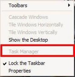 How to enable Windows task manager and Windows registry editor (regedit) in XP