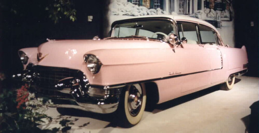 The Pink Cadillac in the Graceland garage