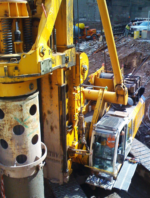 Contractor's Equipment at a job site, photo taken by Randi Glazer