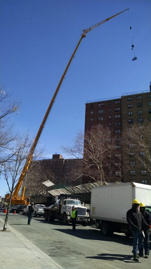 Crane during an installation