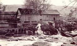 Water-powered sawmill.