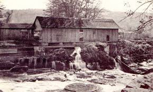 Water-powered sawmill.