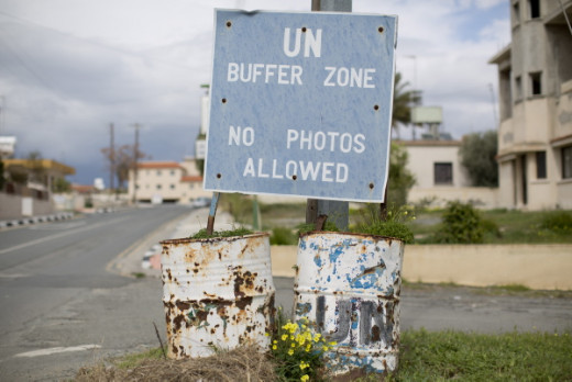 Picture taken from the buffer zone dividing Cyprus