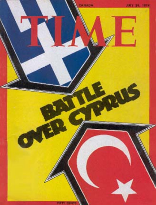 Political powers from Greece and Turkey manifest there struggles through war in Cyprus