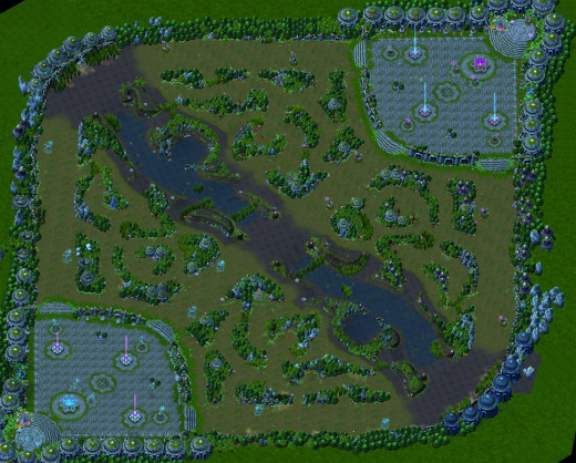 Map for summoners rift