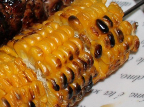 BBQ Corn With Melted Butter and Sea Salt