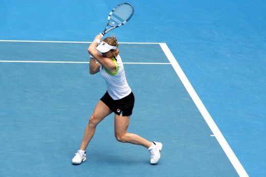The Belgian player, Kim Clijsters, a former world No. 1 in both singles and doubles, she was famous for her strong baseline game.  Athletic and powerfully built, she was also renowned for her all-court defensive capabilities.