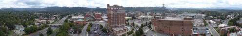 Downtown Asheville panorama