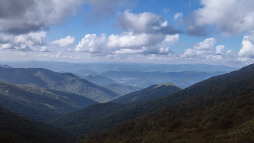 View from the Blue Ridge Parkway, North of Asheville