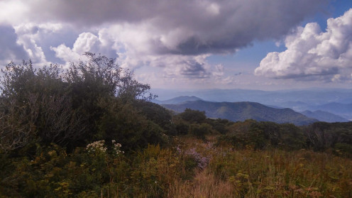 View from a Mountain on the Blue Ridge Parkway, North of Asheville