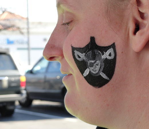 Face painting during the playoffs.