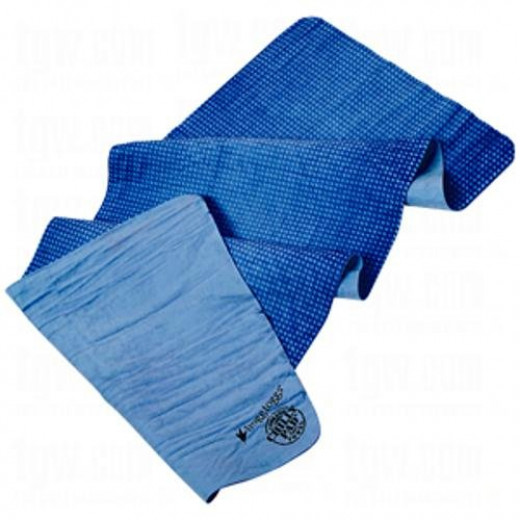 The Frogg Toggs Chilly Pad Cooling Towel is an innovative product that is great for tennis players.  When the towel is wet, it becomes cooler than the air around it, giving relief for overheated players.  Just add more water when it dries out.