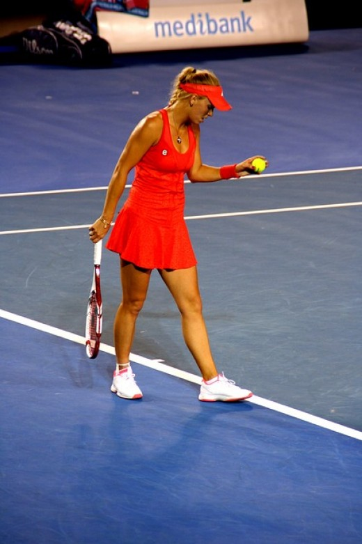A former World No. 1 on the WTA Tour, Caroline Wozniacki was the first woman from a Scandinavian country to hold the top ranking position.  The Dane is famous for her two-handed backhand, which she uses to turn defense into offense.