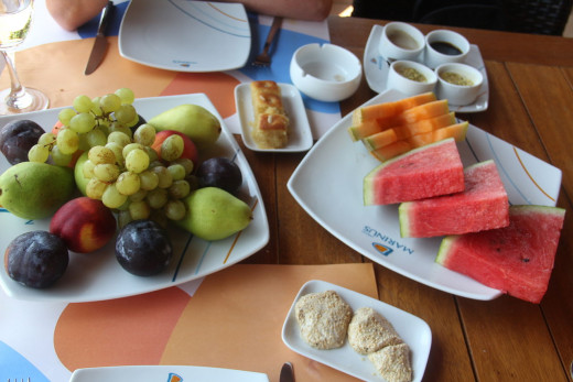 Fresh fruit is the best low calorie Lebanese dessert, but it is seldom available.