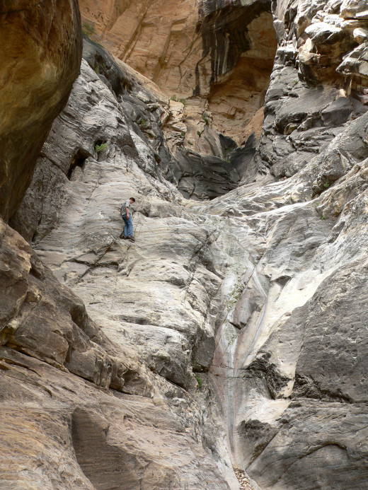 Rock Climbers in the Ice Box Area of Red Rock Canyon