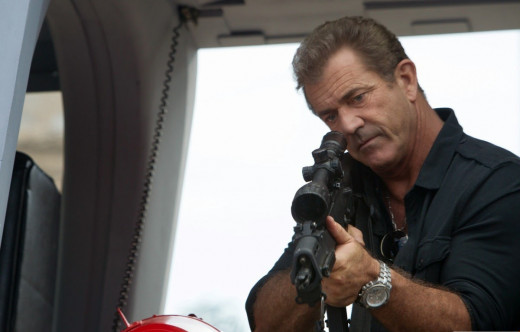 Mel Gibson as Conrad Stonebanks in The Expendables 3