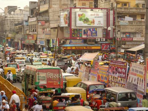 Traffic chaos at Chandni Chowk Delhi