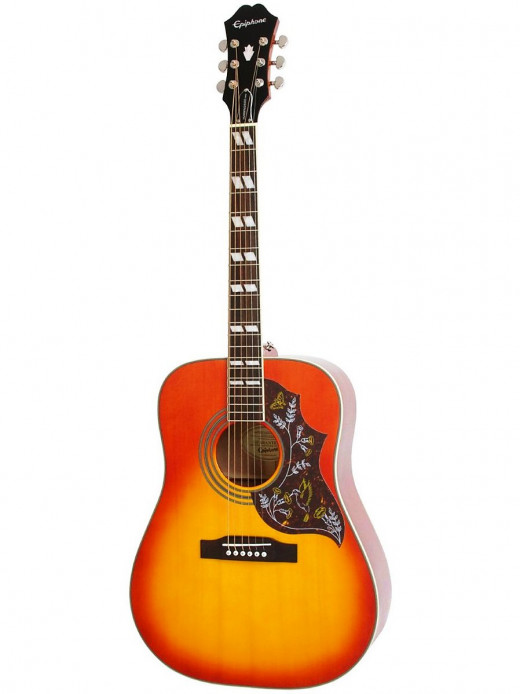 The Epiphone Hummingbird PRO: One of the best acoustic-electric guitars under $300.