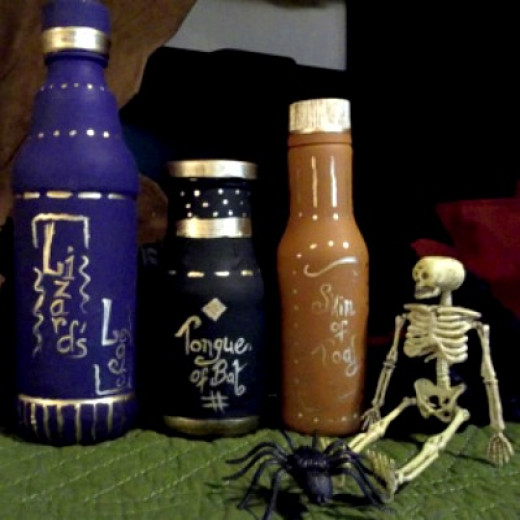 how to make potion bottles craft, halloween