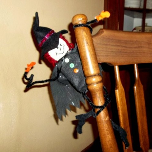 twisted leg witch craft, halloween witch craft