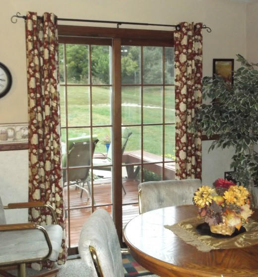 how to make, simple grommet drapes