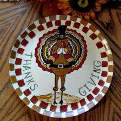 How to Paint a Thanksgiving Plate