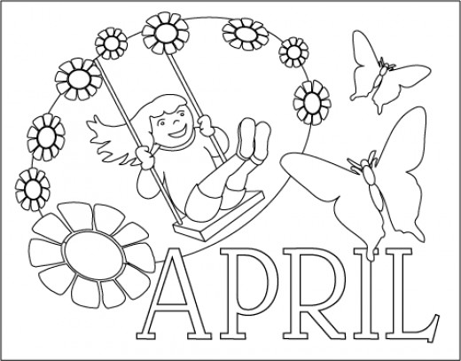 Coloring Pages For Month Of April : Best coloring books ever hubpages