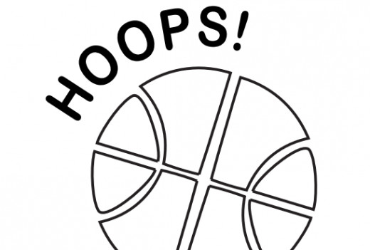 Hoops! Basketball sport coloring page