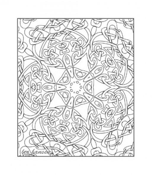 Celtic Kaleidoscope Design - Digital drawing created  by Lee Hansen