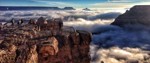 Natural fog sometimes fills the canyon, during temperature inversions.