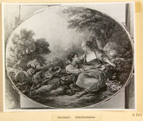 Artist: François Boucher Title: Pastoral Scene Confiscated Collection: R 361 (Rothschild Collection, France)