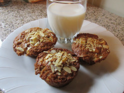 Banana Muffins With Sour Cream and Toasted Almonds