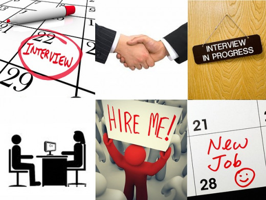collage of job interview hire me handshake office worker silhouette