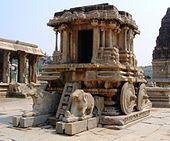stone chariot at hampi