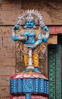 Statue of the guardian of the simhadwara at jagnnath temple